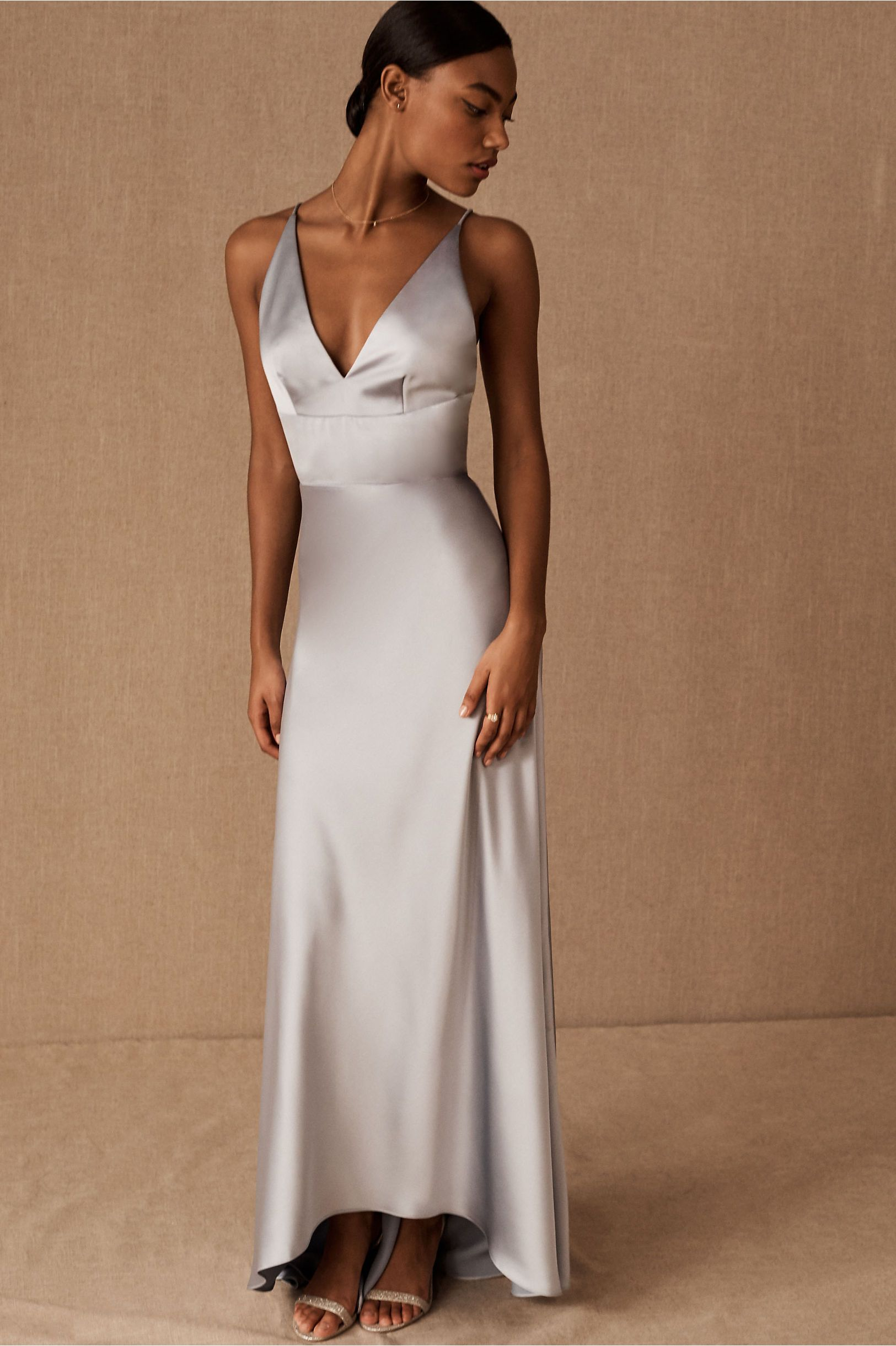 Monique Lhuillier Bridesmaids Maribelle Dress In Dove by Monique Lhuillier Bridesmaids - Dove - Size: 14