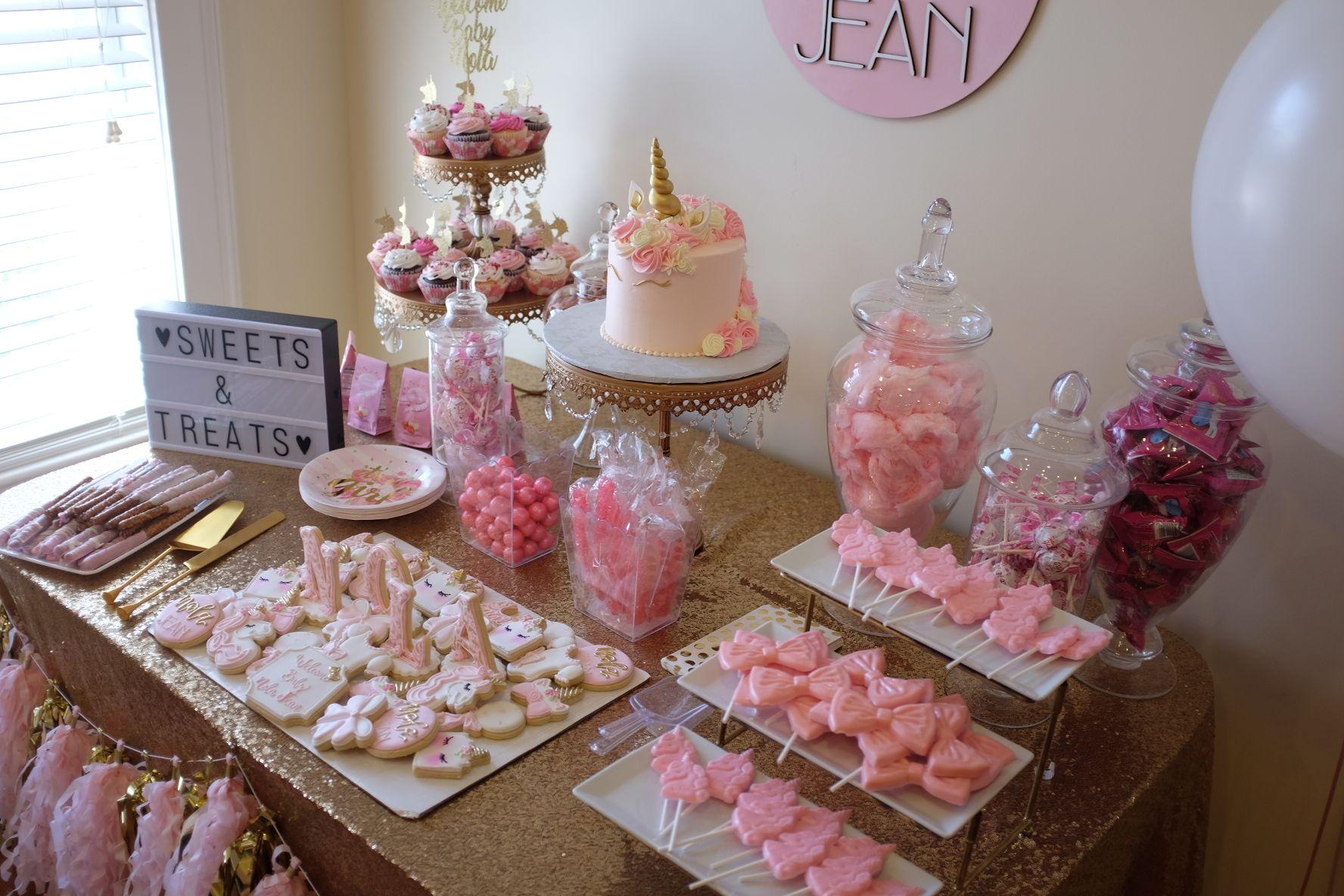 Girl Baby Shower Unicorn Baby Shower Baby Shower Cupcakes Cake