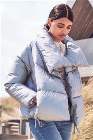 Metallic Short Duvet Jacket