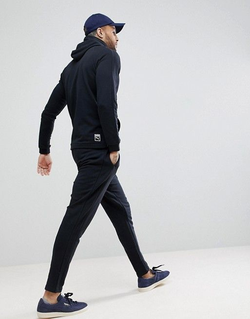 d8fb61a12 Puma Skinny Fit Tracksuit Set In Black Exclusive to in 2019 ...