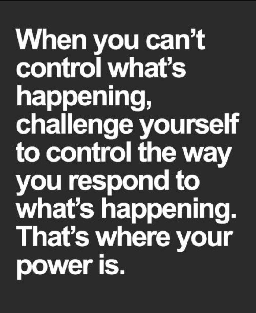 You Can T Change People Or Situations Only Your Reaction To Them Good Idea Fairy Reaction Quotes Situation Quotes Cant Change People