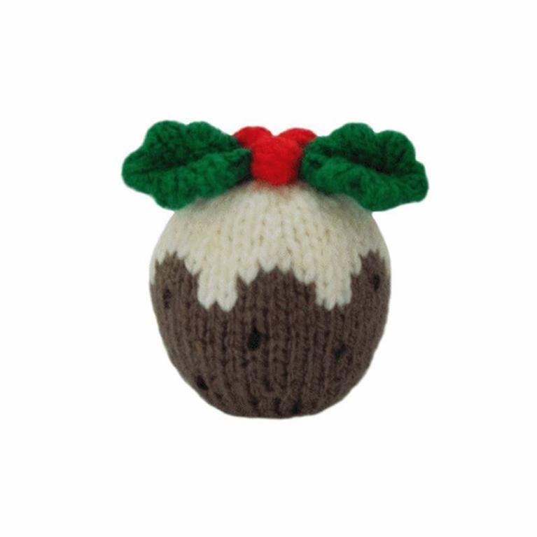 Christmas Pudding Knitted Christmas Decorations Christmas