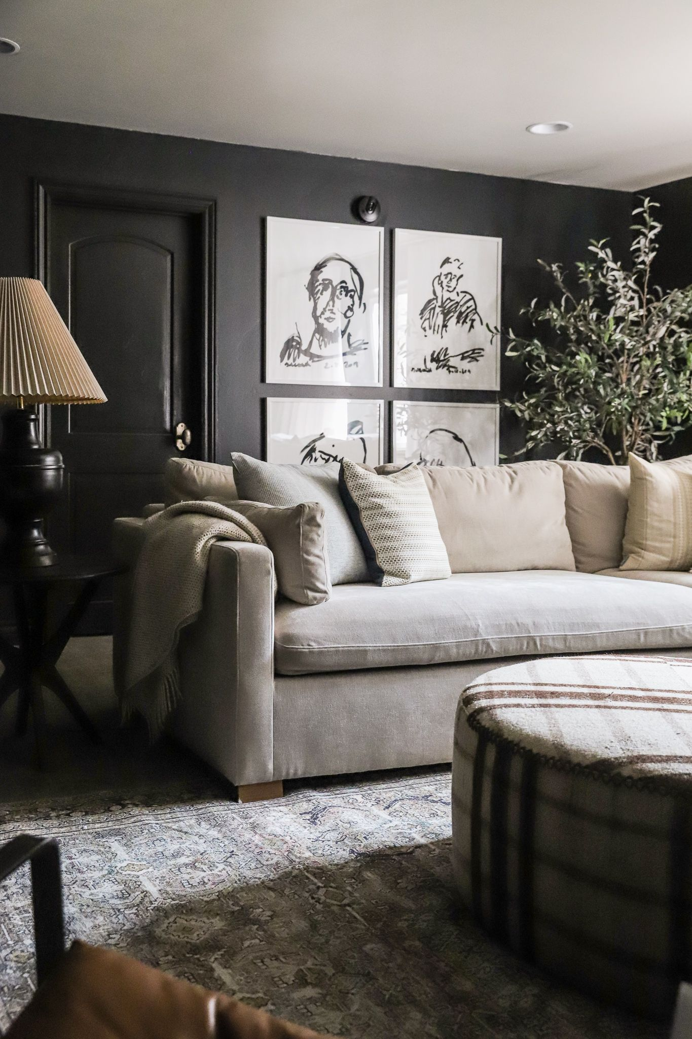 Our Dramatic Basement Family Room Makeover In 2020 Family Room Makeover Home Living Room Room Makeover
