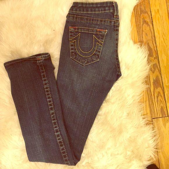 True Religion Johnny straight cut denim Great condition True Religion Jeans Straight Leg