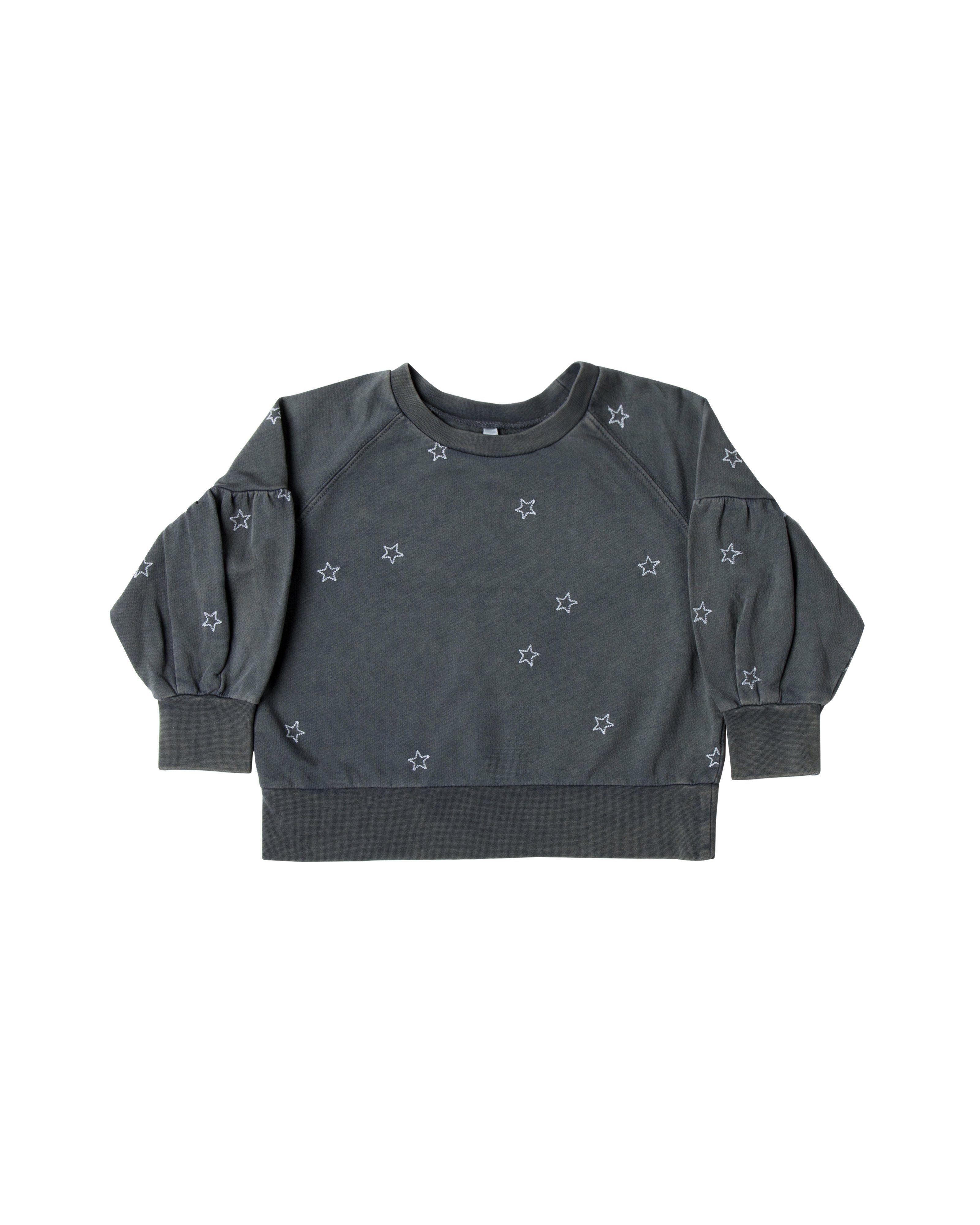 cdfa7dba015e Rylee and Cru Puff Sleeve Sweatshirt - Stars