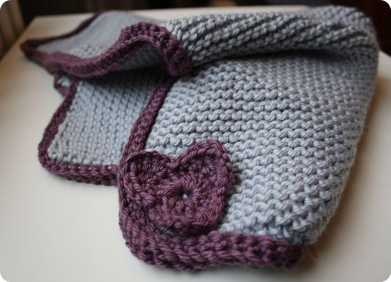 bordure de couverture au crochet