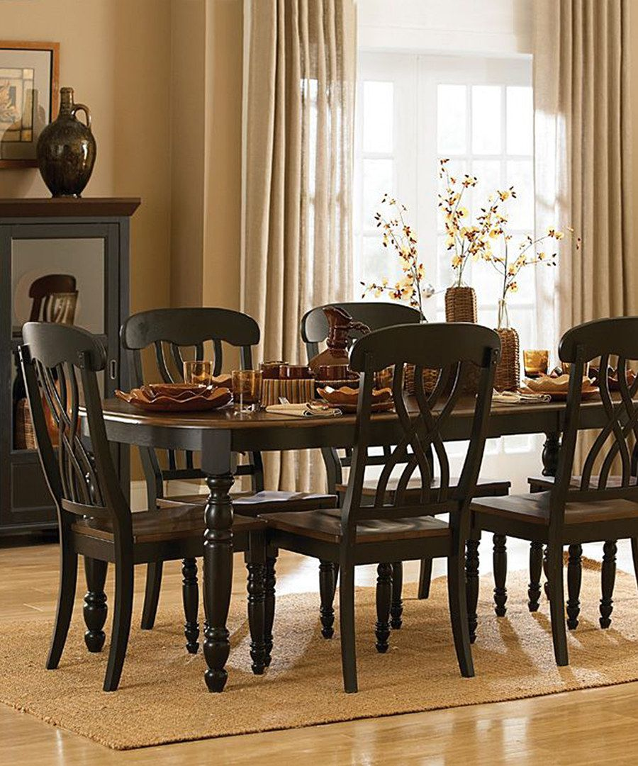 Look At This Black Wood Extendable Dining Table On Zulily