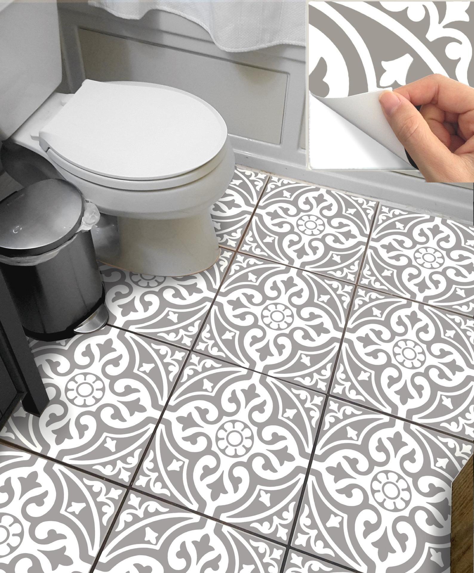 Tile Sticker For Kitchen Bath Floor Wall Waterproof Etsy Wall Waterproofing Flooring Kitchen And Bath
