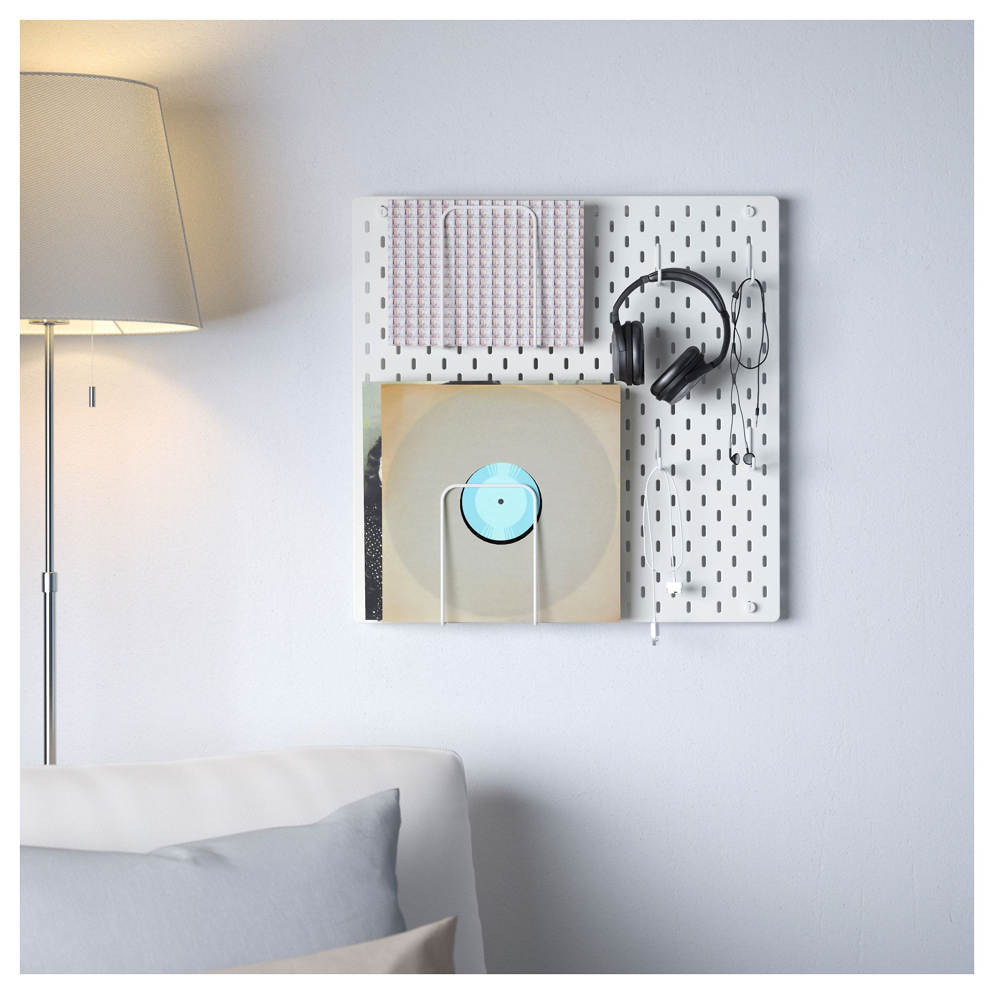 "SKÅDIS Pegboard combination, white, 22""x4 ¾""x22"". Get it"