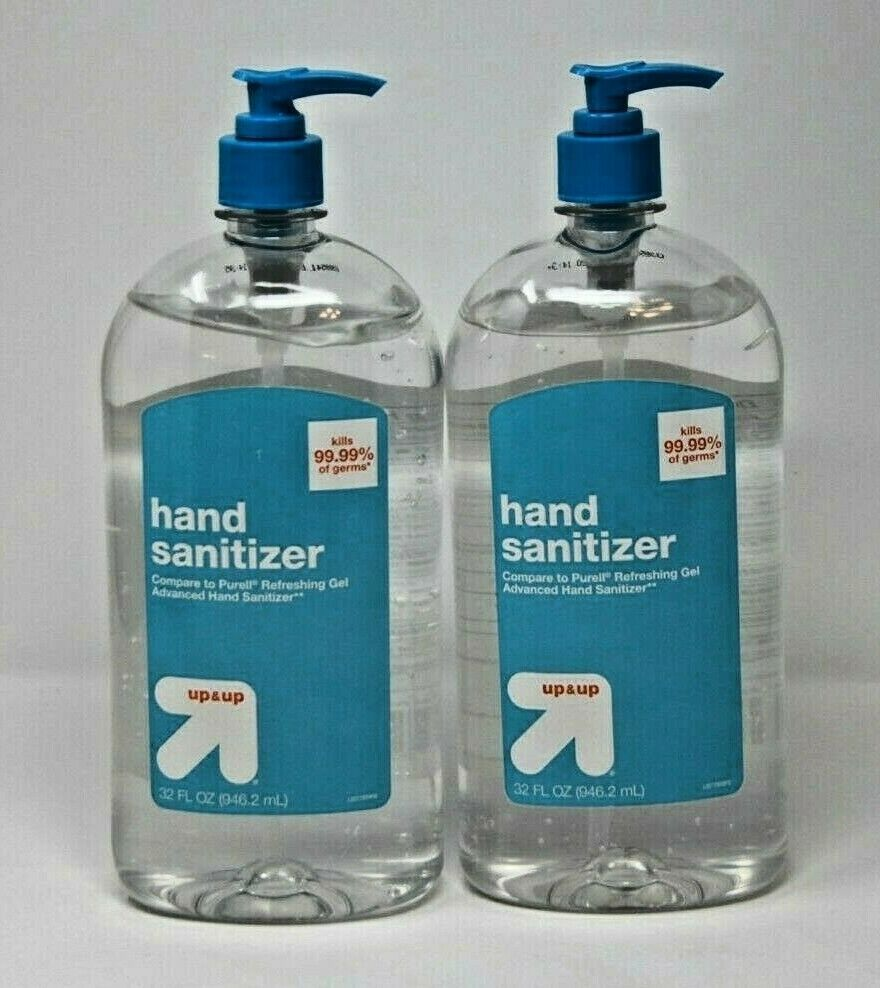 Up Up 32 Fluid Oz Hand Sanitizer Gel Lot Of 2 Bottle Brand New