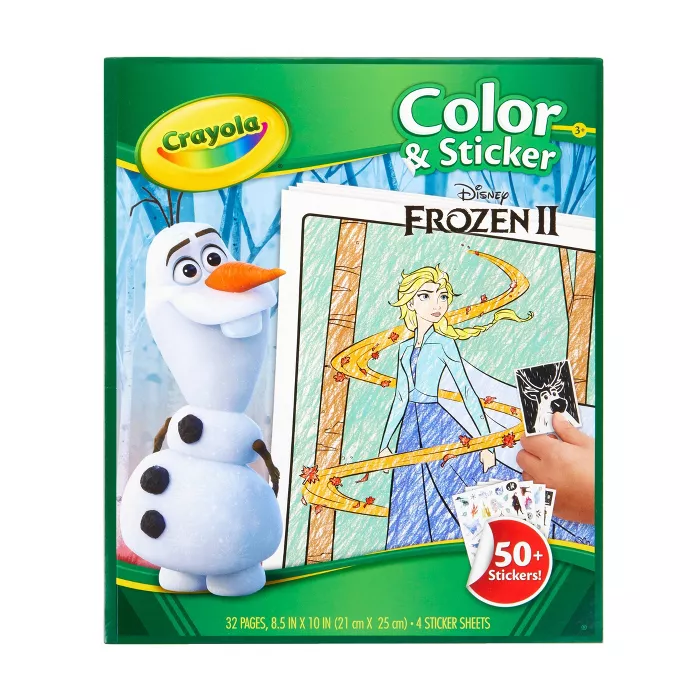 Crayola Disney Frozen 2 Color Sticker Book Coloring Stickers Frozen Coloring Sticker Book