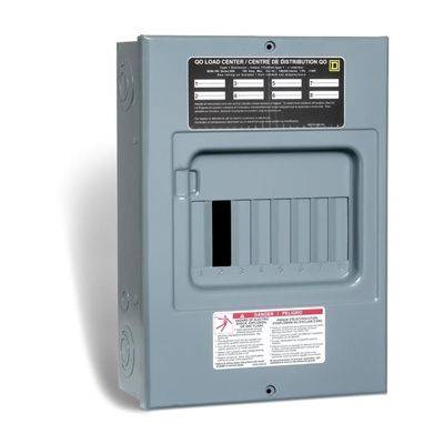 Square D 100 Amp Qo Sub Panel Loadcentre With 8 Spaces 15 Circuits Maximum Paneling Circuit Submarine