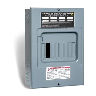 Square D 100 Amp Qo Sub Panel Loadcentre With 8 Spaces 15 Circuits Maximum Paneling Circuit Submarine