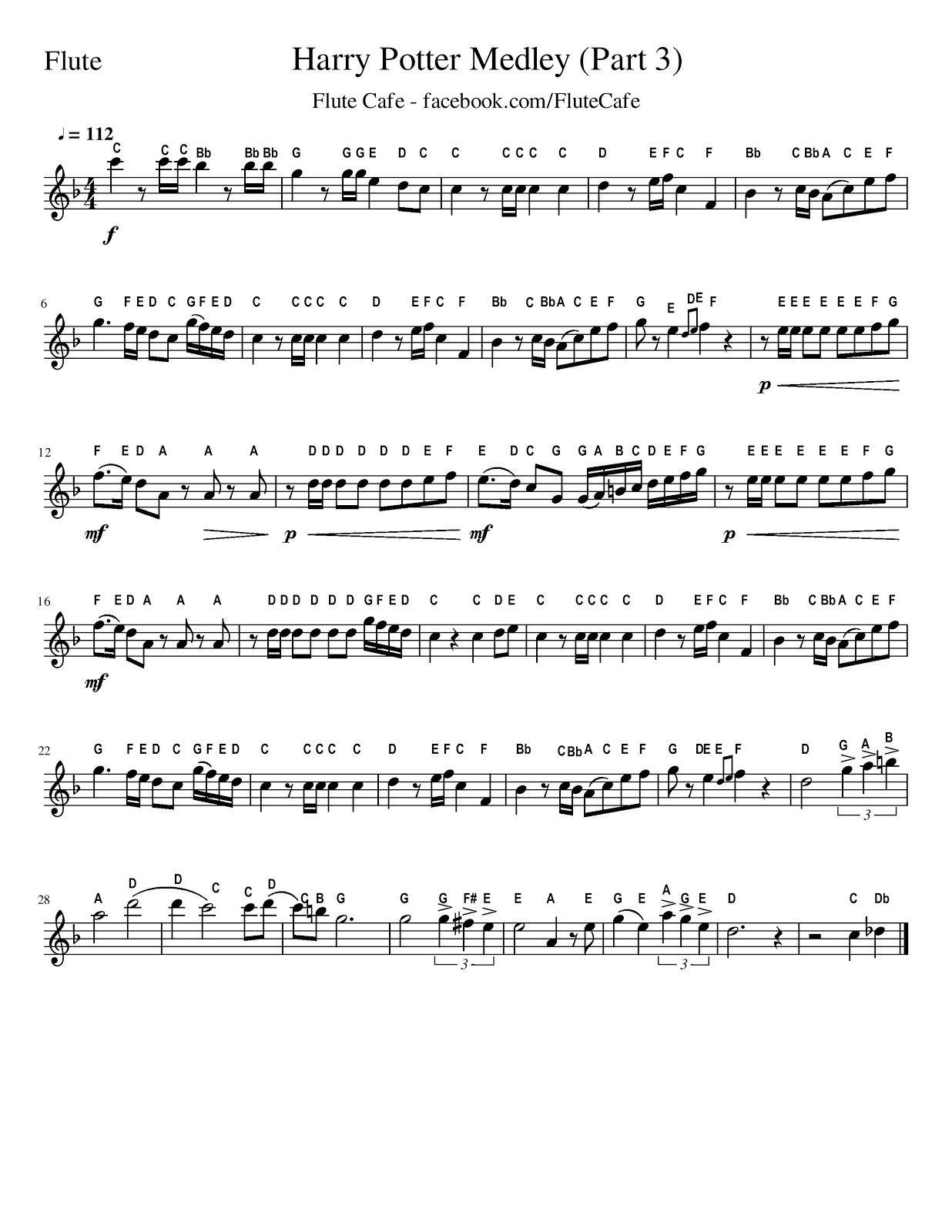 frozen flute sheet music pdf