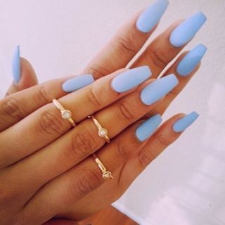 Matte light blue💙 @acrylic_nails___