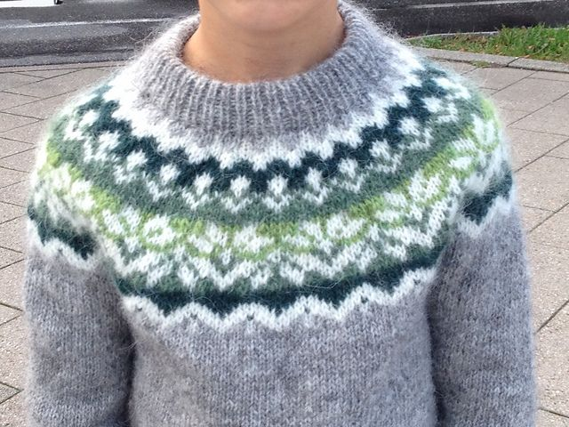 Ravelry: Project Gallery for Afmæli - 20-year anniversary sweater ...