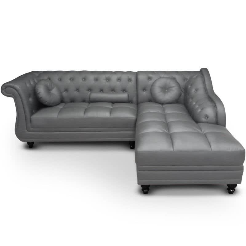 Chaise longue brittish gris izquierda en 2019 - Chaise longue modernos ...