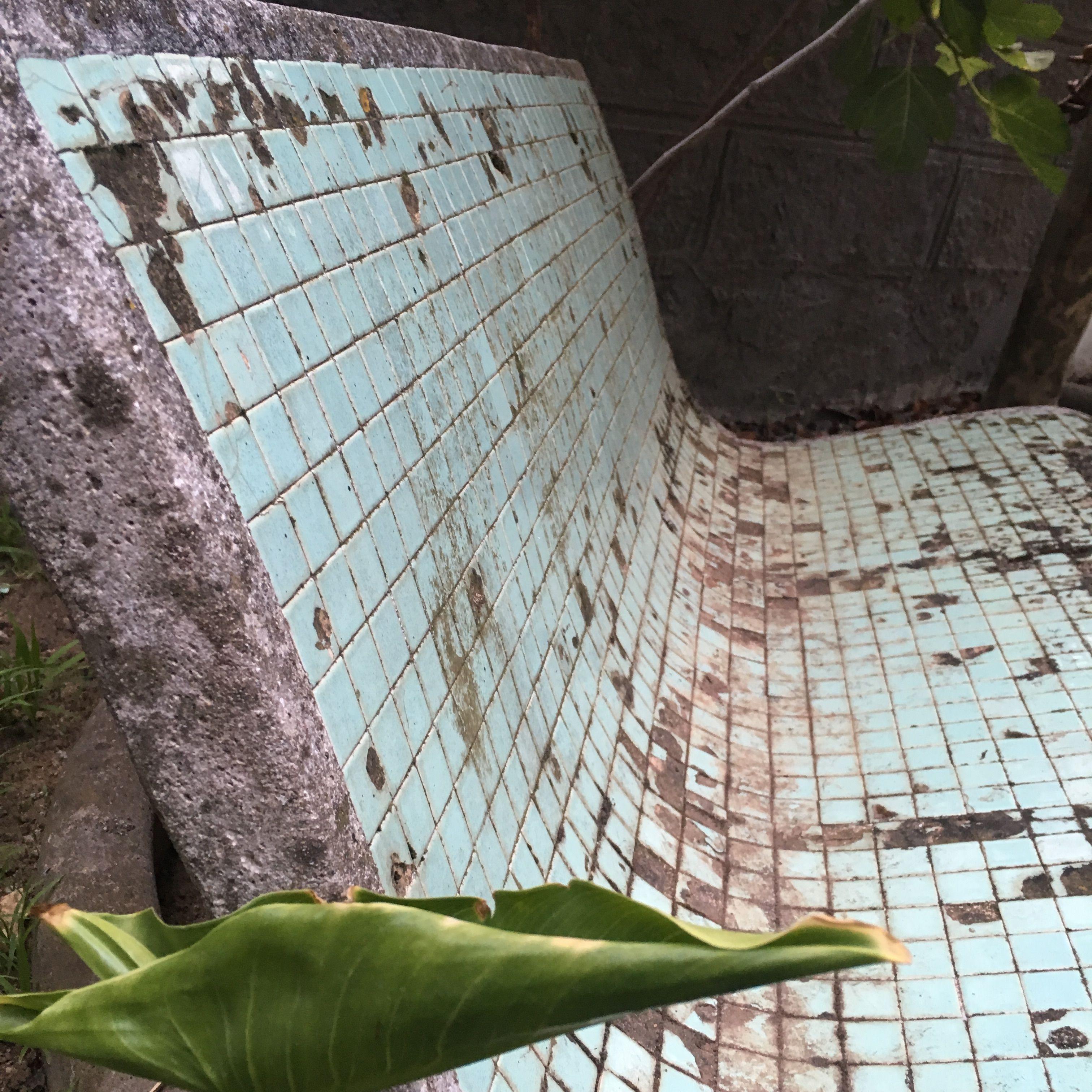 Panchina Con Mosaico Originale Da Restaurare San Vito Sullo