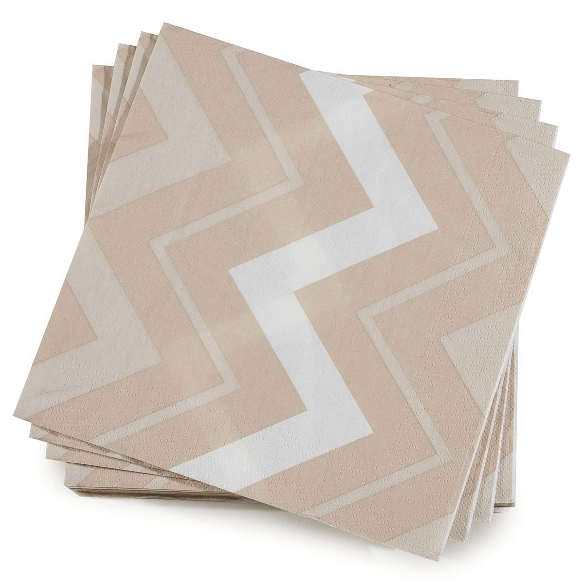 Add style to any table with the Dune Color Rock Napkins by Le Jacquard Français. The soft and absorbent paper napkins feature a rhythmic geometric pattern with a soft and neutral color palette. Perfect for every day use or special occasions. Complete the collection with the coordinating Dune Color Rock Table Linens are also available. Napkin size: 16
