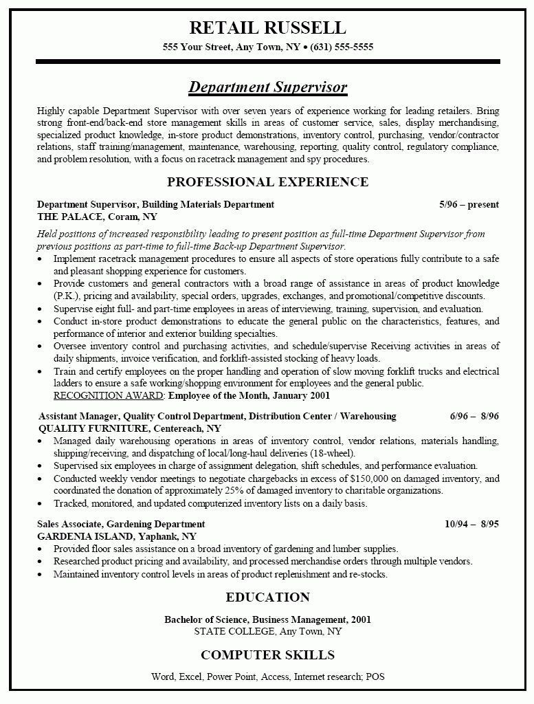 retail manager resume examples sop examples Retail