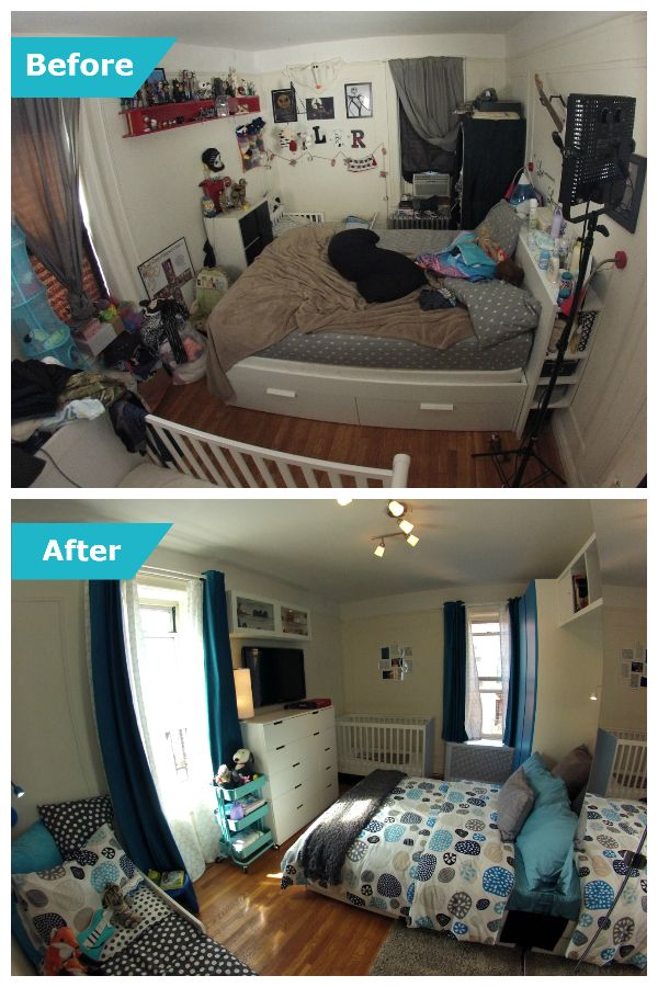 One Small New York Bedroom Shared By The Whole Family