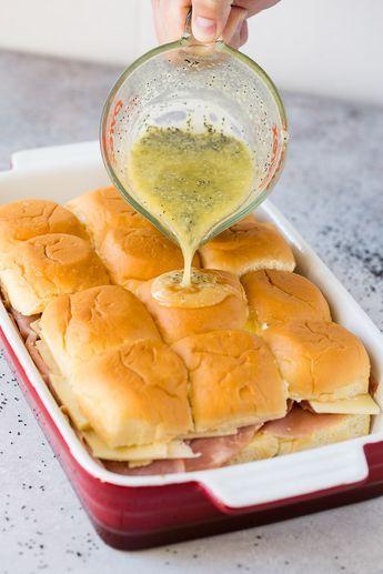Ham and Cheese Sliders #breakfastslidershawaiianrolls