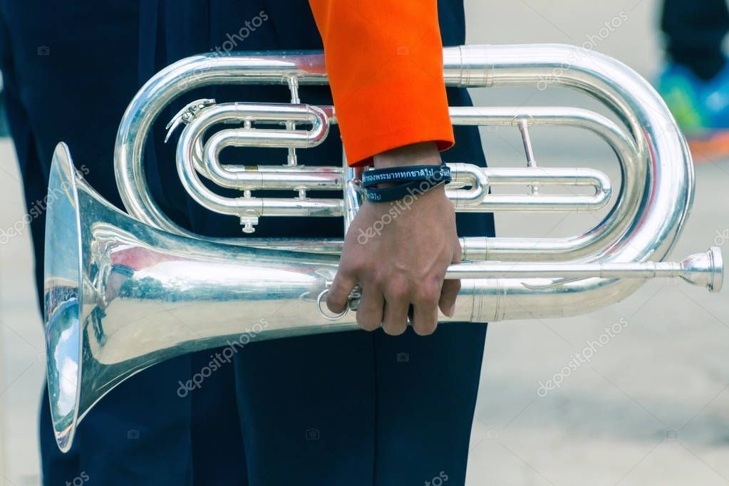 Close View Musician Hand Holding Silver Trumpet Musical Instrument Stoc Affiliate Hand Holding Musician Close Ad In 2020 Musician Silver Trumpet Musicals