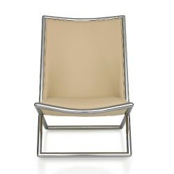 Ward Bennett Scissor™ Chair, Metal Frame