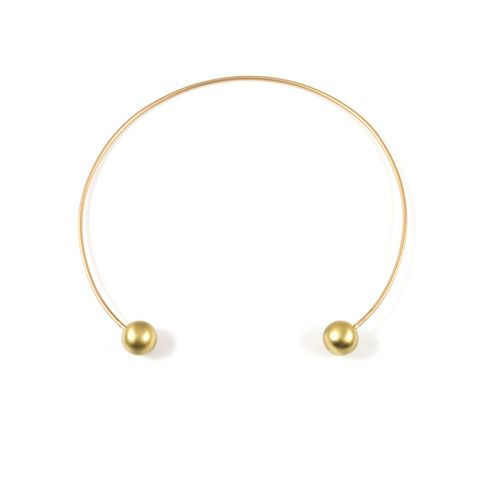 Sphere Cuff Necklace - Baleen