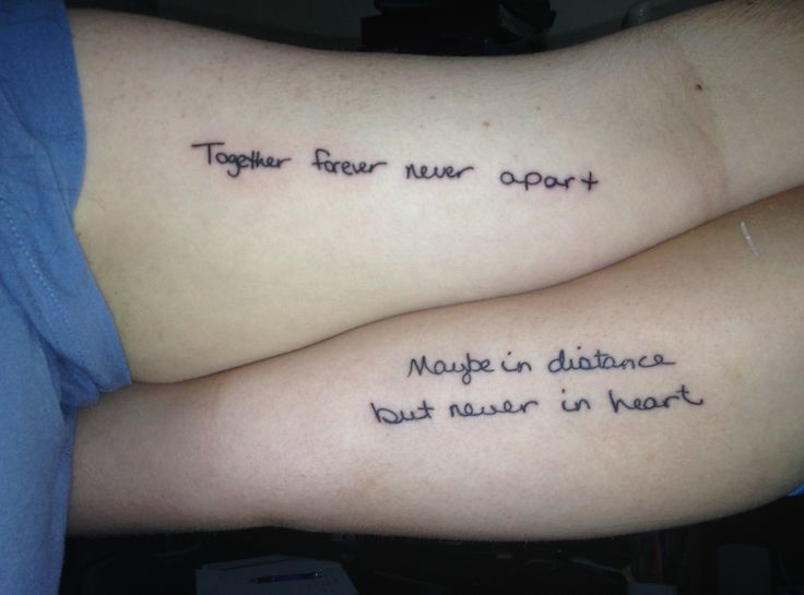 mother daughter tattoos | Mother - daughter tattoo in each others ...