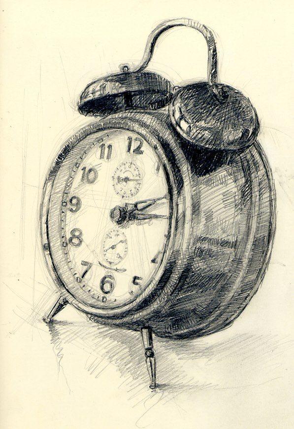 Часы картинка карандаш простой