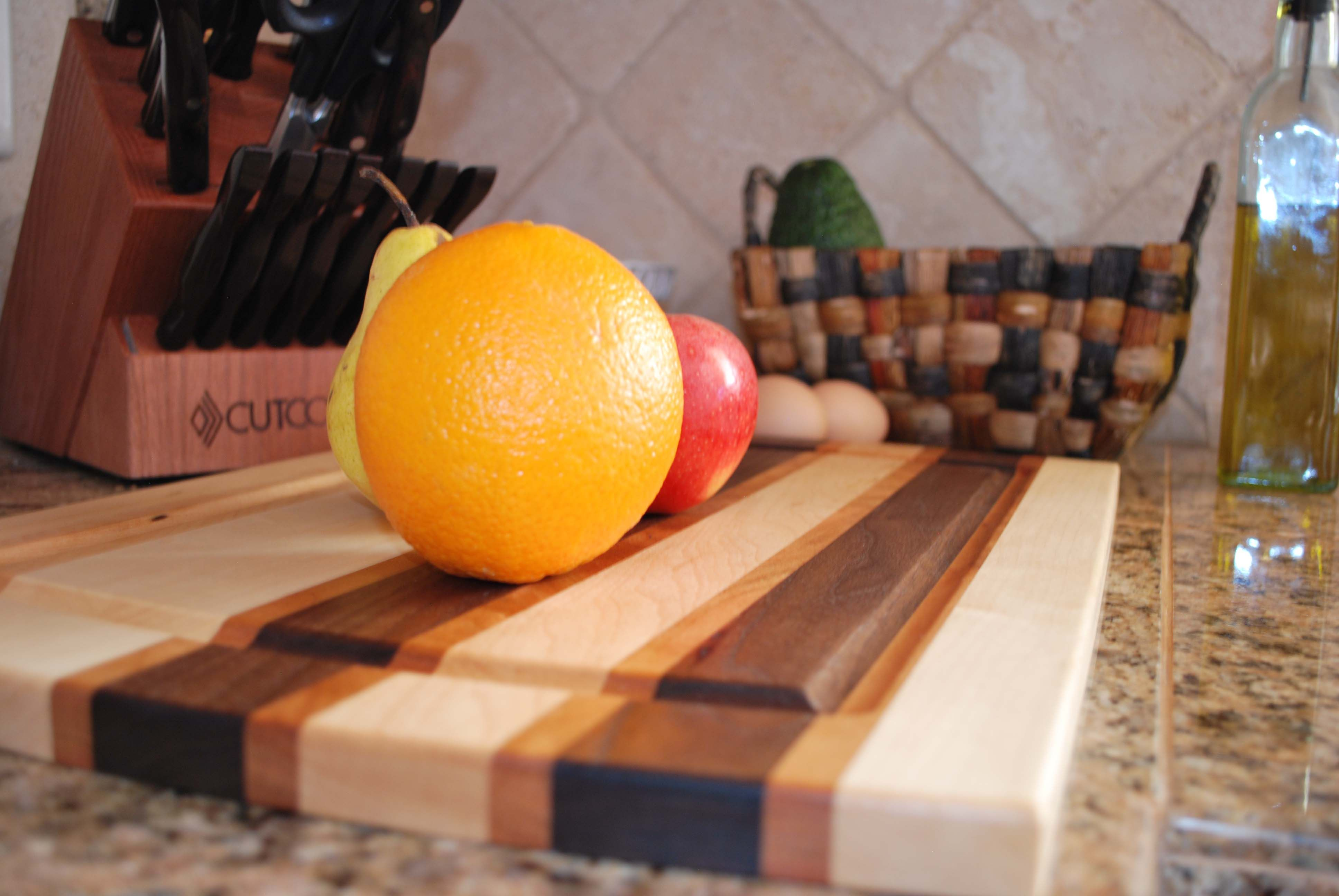 Walnut Cherry And Maple Cutting Board Black Forest Woodwork