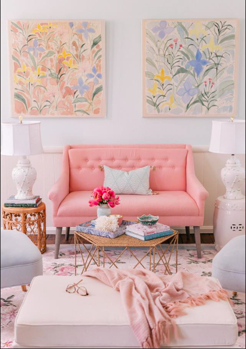 Pink Sofa | Home Aesthetics | Pinterest | Pink sofa and Interiors