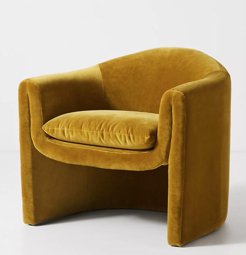 Velvet Sculptural Chair In 2020 Sculptural Chair Chair Eclectic Furniture