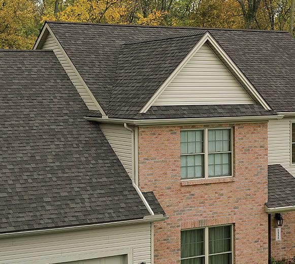 owens corning oakridge estate gray shingles on a house - bing