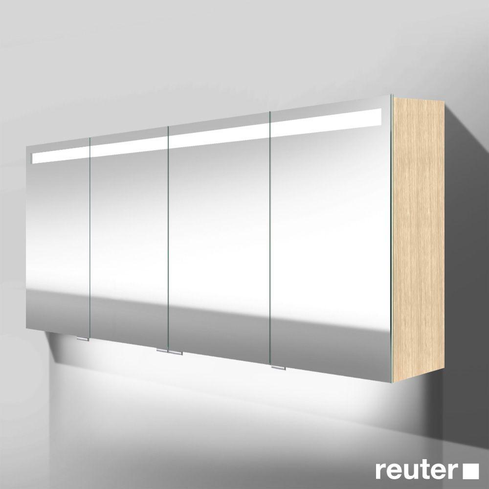 Spiegelschrank bad eiche  Burg Crono LED Spiegelschrank mit Waschtischbeleuchtung mit 4 ...