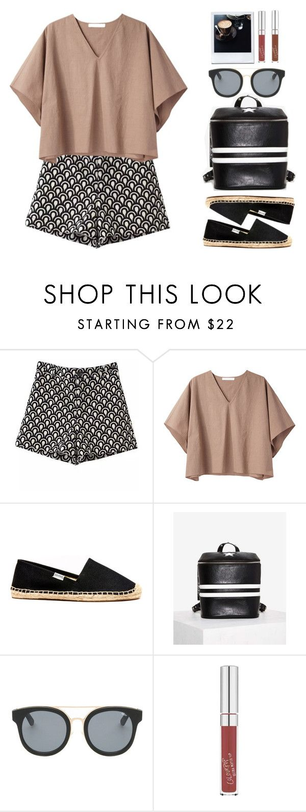 """N°169"" by yellowgrapes ❤ liked on Polyvore featuring Prada, Apiece Apart, Soludos and Quay"