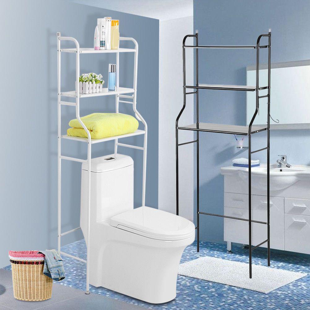 3 Shelf Bathroom Over The Toilet Space Saver Storage Cabinet Shelf