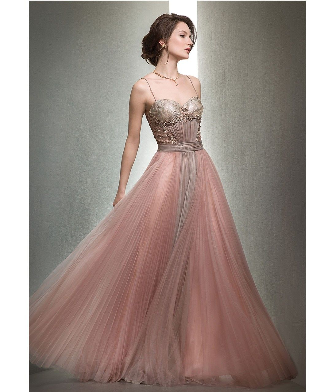 Mignon VM1158 Quartz Pleated Chiffon Evening Gown :: Prom ...