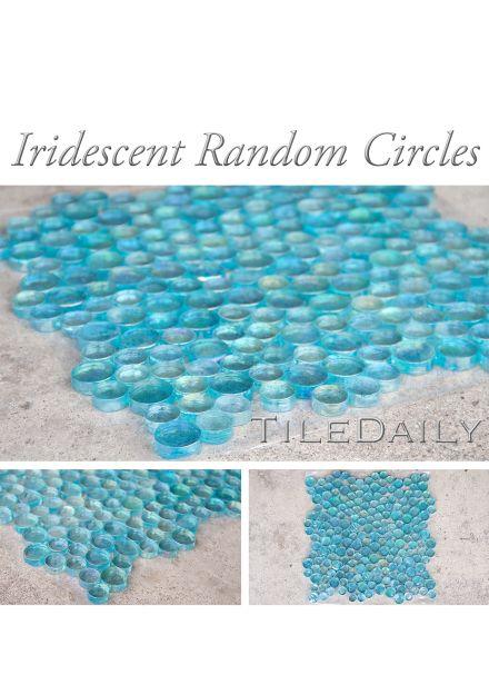 Gm0108tq Iridescent Random Circles Glass Mosaic