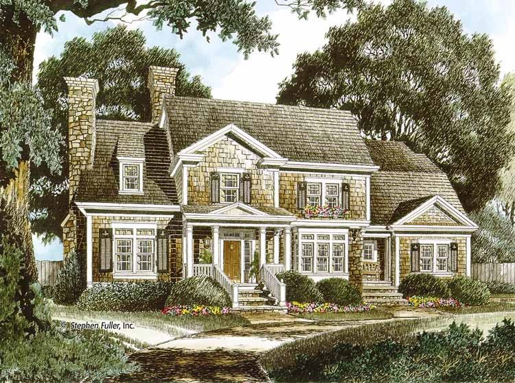 Colonial Style House Plan 4 Beds 4 Baths 3548 Sq Ft Plan 429 343 Country Style House Plans Colonial House Plans Cape Cod House Plans