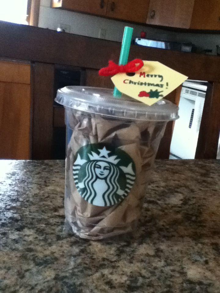 Super cute gift idea!! Hide a gift card inside and add tissue paper!