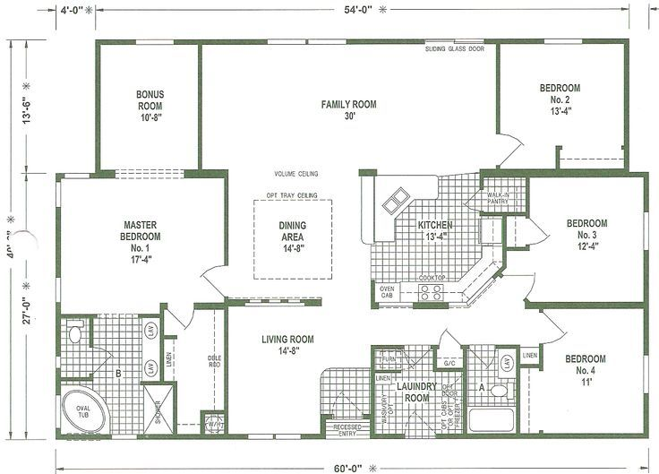 Triple Wide Mobile Home Floor Plans We Offer A Complete Service To Our Customers Financing Ext Mobile Home Floor Plans Floor Plans Triple Wide Mobile Homes
