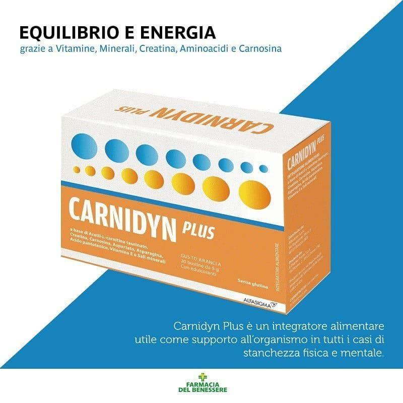 Carnidyn Plus è l'integratore alimentare utile per contrastare stanchezza fisica e mentale e ritrova...