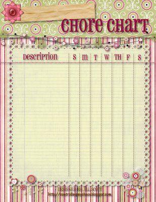 Free Printable Chore Chart Templates | Kids | Pinterest | Chore