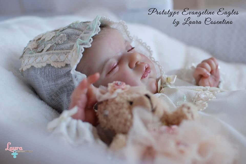 Prototype Evangeline Eagles...sneak peak...Thank you Laura Lee Eagles for this opportunity ♥ #LauraCosentino #LauraRebornDolls #LauraLeeEagles #reborndolls