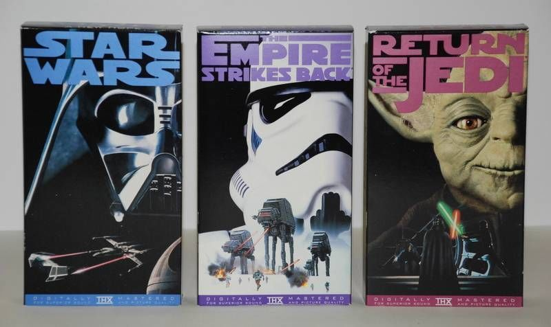 Star Wars Original Trilogy Vhs Return Of The Jedi Empire Strikes Back New Hope Star Wars Trilogy Star Wars Collection Empire Strike