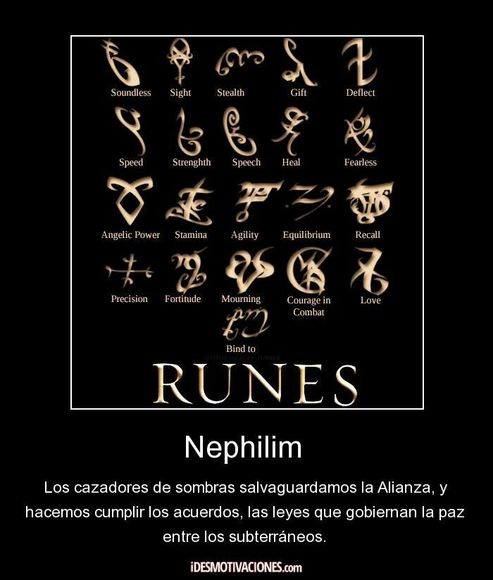 Nephilim Runes Shadow Hunter Pinterest Runes Mortal