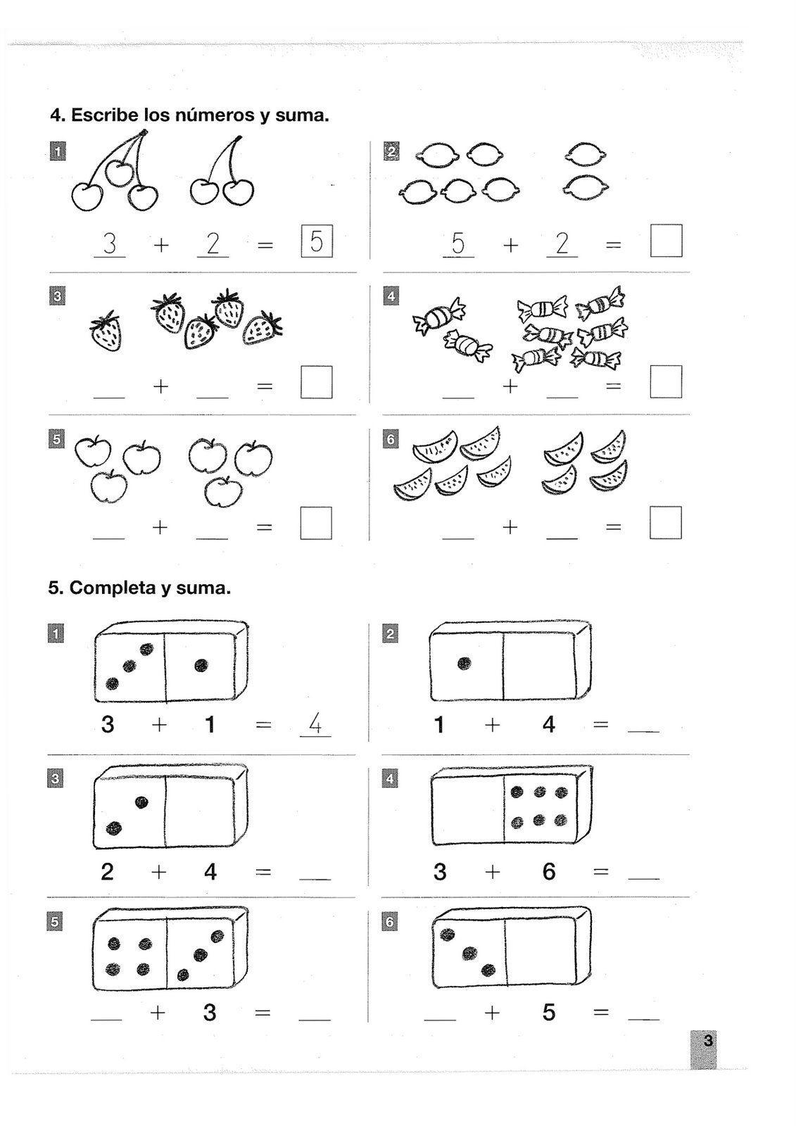 sumas para primer grado para imprimir ficha de sumas ...