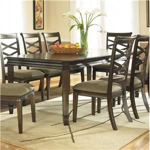 Ashley Furniture Hayley Rectangular Ext Table With Exposed Wood Legs